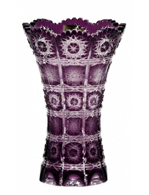 Paula II kristályváza, lila színű, magassága 180 mm