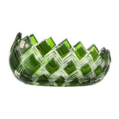Harlequin kristálytál, zöld színű, átmérője 255 mm