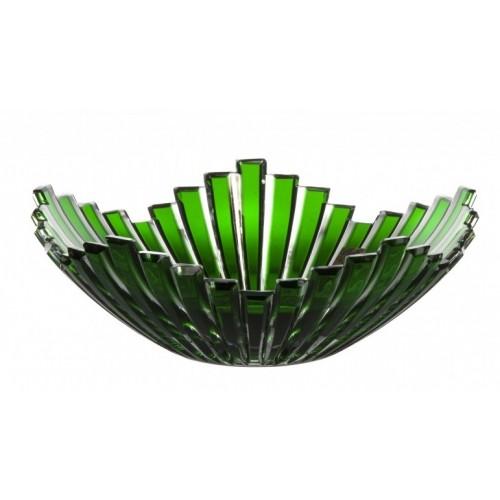 Mikado kristálytál, zöld színű, átmérője 230 mm
