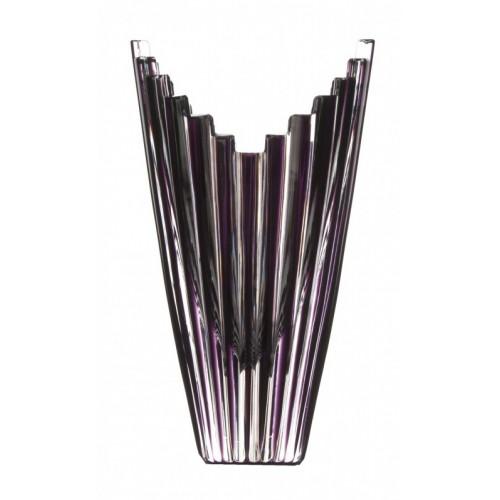 Mikádó kristályváza, lila színű, magassága 155 mm