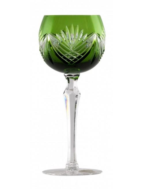 Janette kristály borospohár, zöld színű, űrmértéke 190 ml