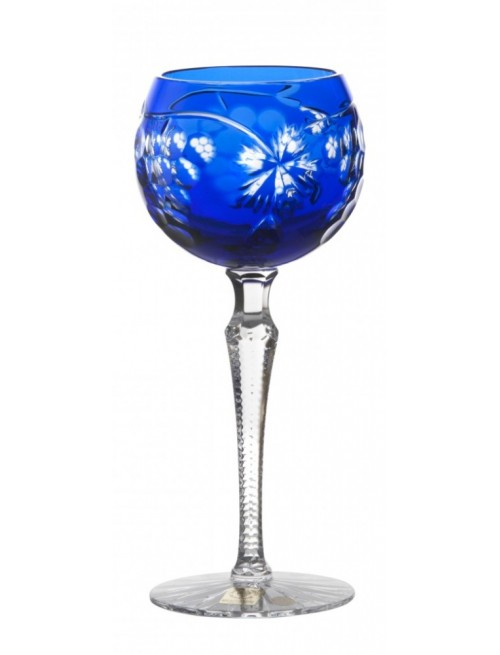 Grapes kristály borospohár, kék színű, űrmértéke 190 ml