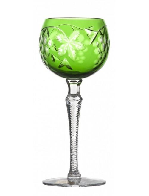 Grapes kristály borospohár, zöld színű, űrmértéke 190 ml