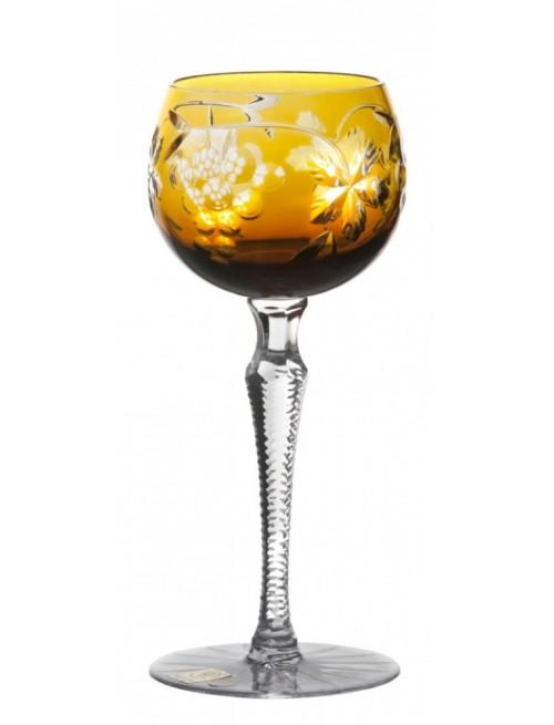 Grapes kristály borospohár, borostyán színű, űrmértéke 190 ml