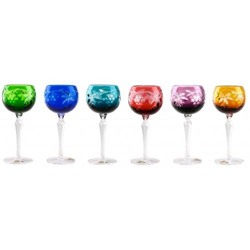 Grapes kristály borospohár szett, szín mix, űrmértéke 190 ml