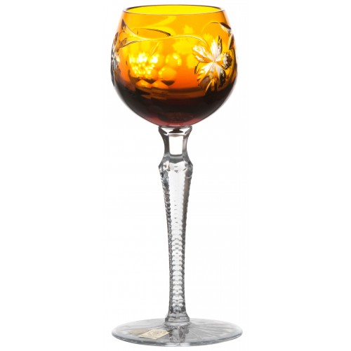 Grapes kristály borospohár, borostyán színű, űrmértéke 170 ml