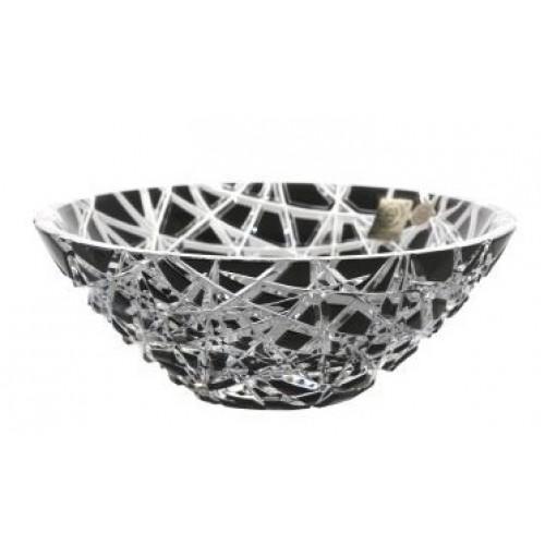 Taiga kristálytál, fekete színű, átmérője 180 mm