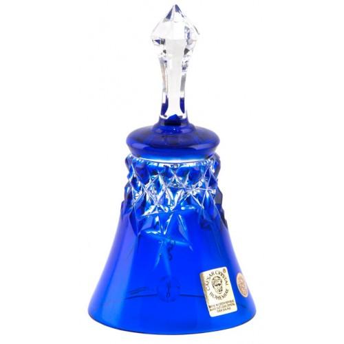 New milenium kristálycsengő, kék színű, magassága 126 mm