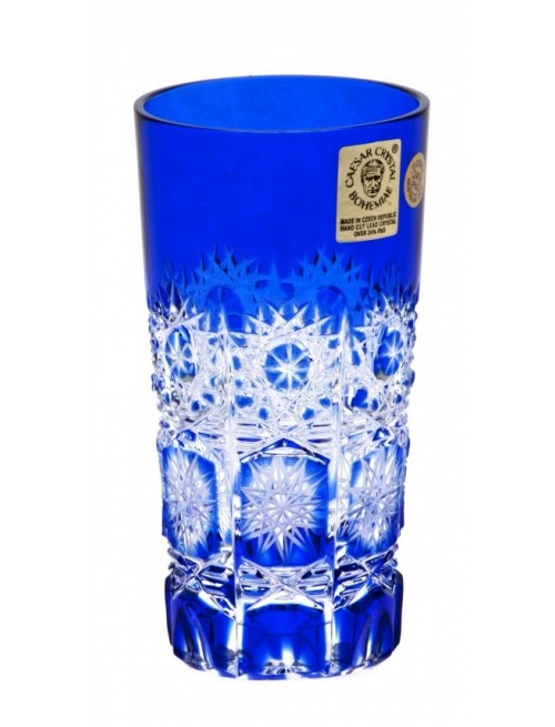 Paula kristálypohár, kék színű, űrmértéke 100 ml