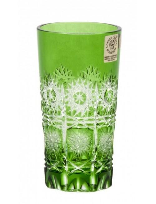 Paula kristálypohár, zöld színű, űrmértéke 100 ml