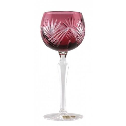 Janette kristály borospohár, rubinvörös színű, űrmértéke 190 ml