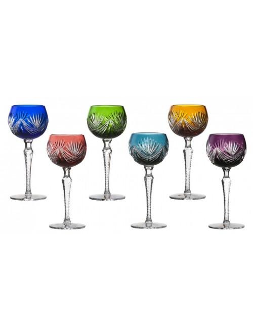Janette 190 kristály borospohár szett, szín mix, űrmértéke 190 ml