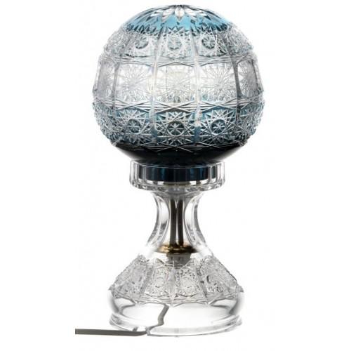 Paula kristály lámpatest, azúr színű, magassága 305 mm