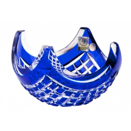 Quadrus kristálytálka, kék színű, átmérője 140 mm