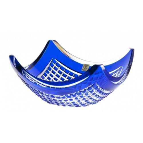 Quadrus kristálytál, kék színű, átmérője 280 mm