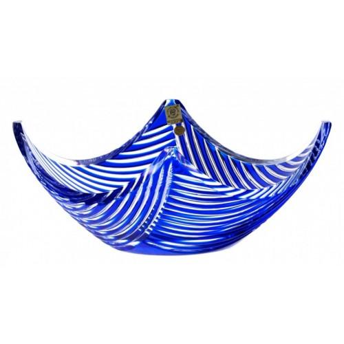 Linum kristálytál, kék színű, átmérője 280 mm