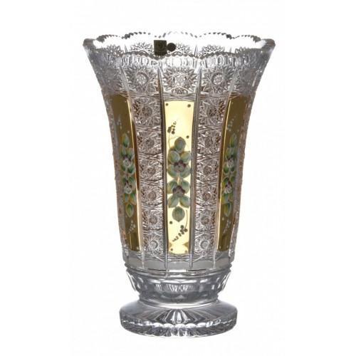 500K Arany I kristályváza, áttetsző kristály színű, magassága 305 mm
