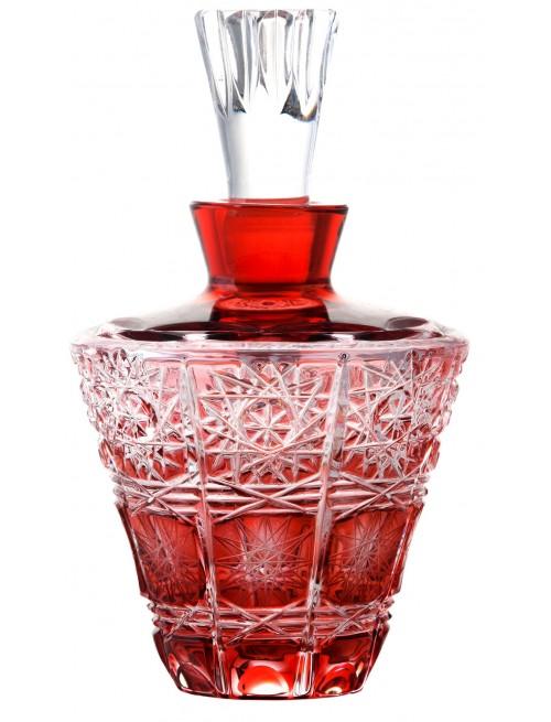 Paula kristály cseppentős parfümös üveg, rubinvörös színű, űrmértéke 170 ml