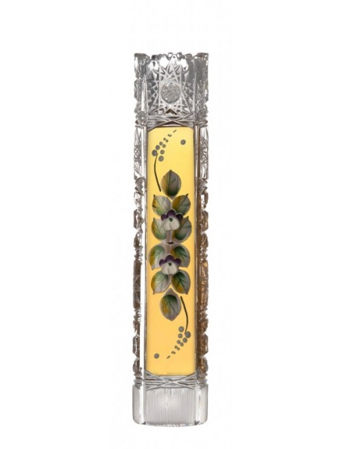 500K Arany I kristályváza, áttetsző kristály színű, magassága 205 mm