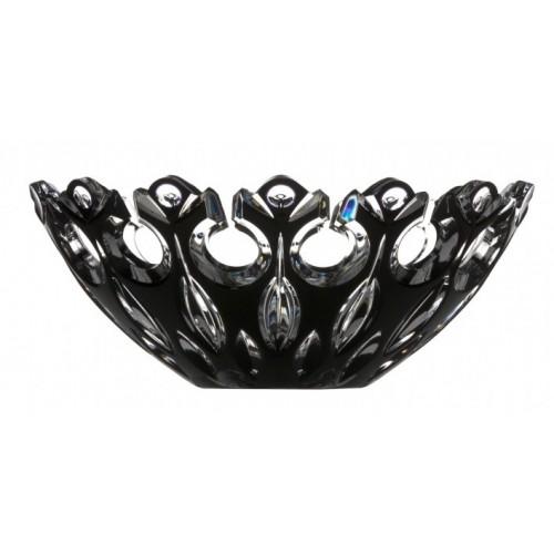 Flamenco kristálytál, fekete színű, átmérője 280 mm