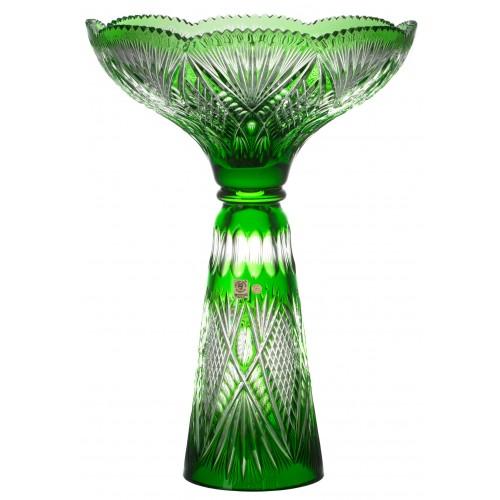 Gabriela kristályváza, zöld színű, magassága 465 mm
