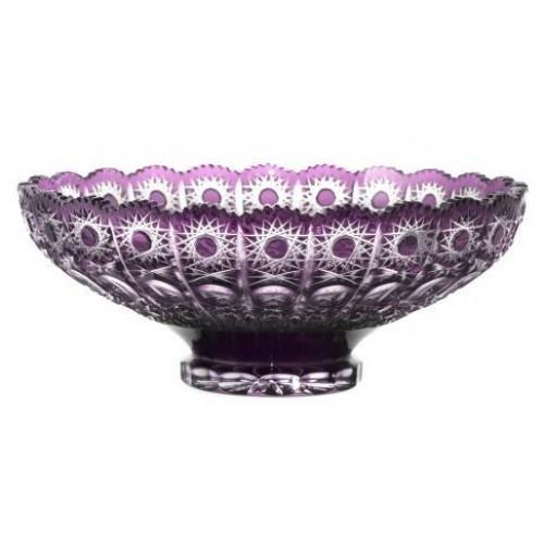 Petra kristálytál, lila színű, átmérője 305 mm