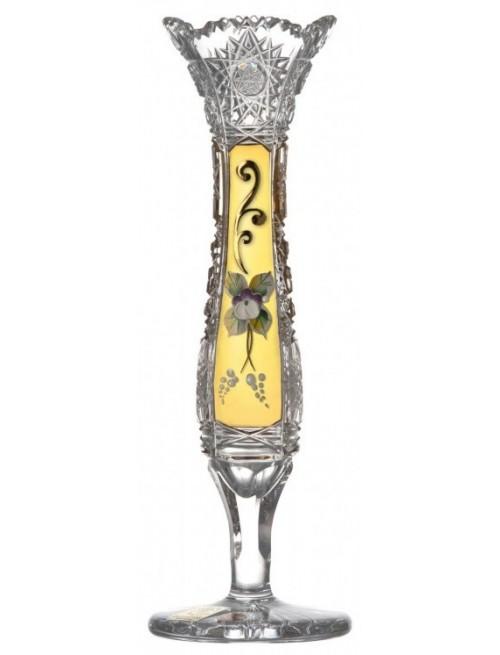 500K Arany II kristályváza, áttetsző kristály színű, magassága 205 mm