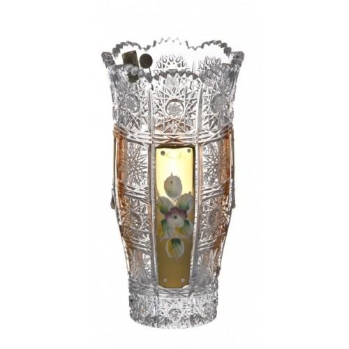 500K Arany II kristályváza, áttetsző kristály színű, magassága 180 mm