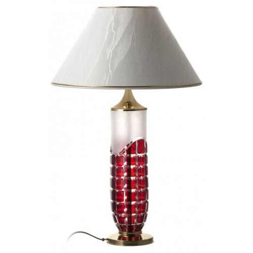 Neron kristály lámpatest, rubinvörös színű, magassága 325 mm