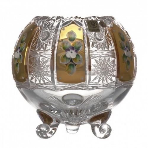 500K Arany I kristályváza, áttetsző kristály színű, magassága 150 mm
