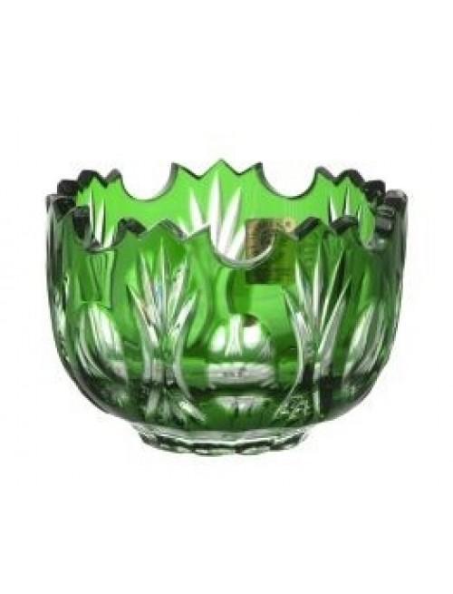 Dandelion kristálytálka, zöld színű, átmérője 95 mm