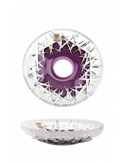 Hoarfrost kristálytányér, lila színű, átmérője 180 mm