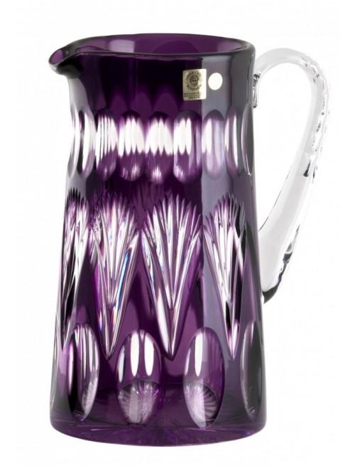 Zora kristálykancsó, lila színű, űrmértéke 1450 ml