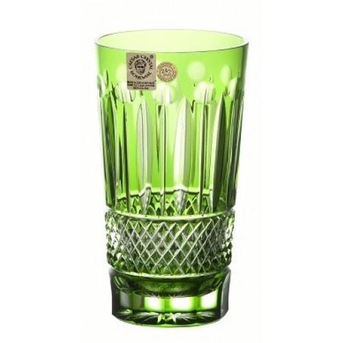 Tomy kristálypohár, zöld színű, űrmértéke 320 ml