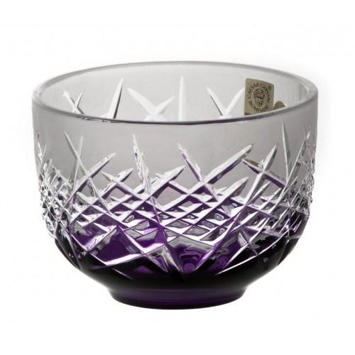 Hoarfrost kristálytálka, lila színű, átmérője 110 mm