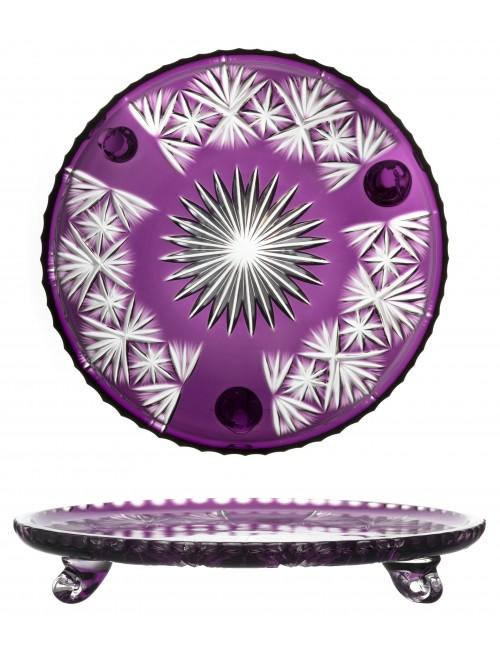 Grace kristálytányér, lila színű, átmérője 305 mm