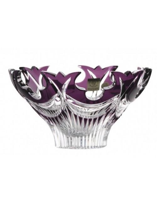 Diadém kristálytál, lila színű, átmérője 165 mm