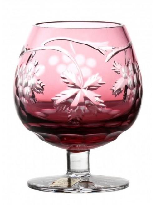 Brandy Grapes kristálypohár, rubinvörös színű, űrmértéke 230 ml