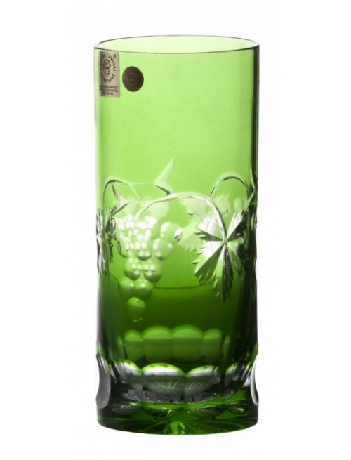Grapes kristálypohár, zöld színű, űrmértéke 350 ml