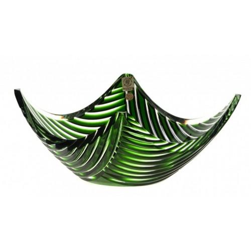 Linum kristálytál, zöld színű, átmérője 280 mm