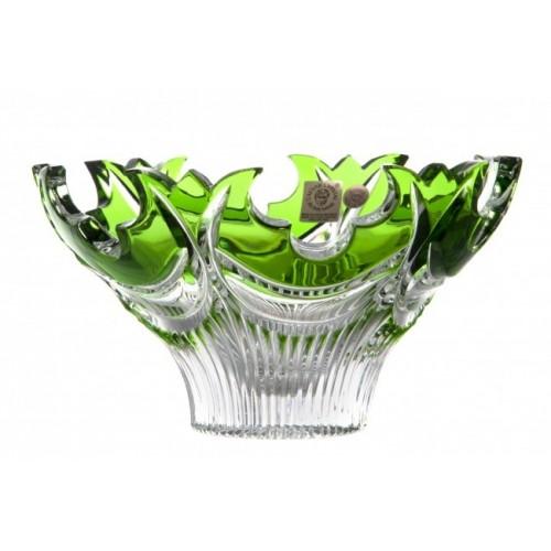 Diadém kristálytál, zöld színű, átmérője 165 mm