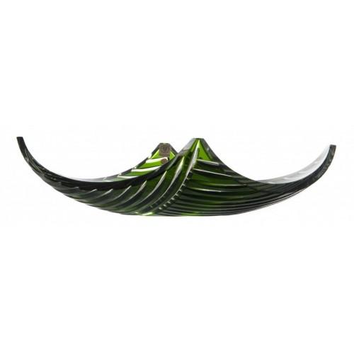 Linum kristálytál, zöld színű, átmérője 350 mm