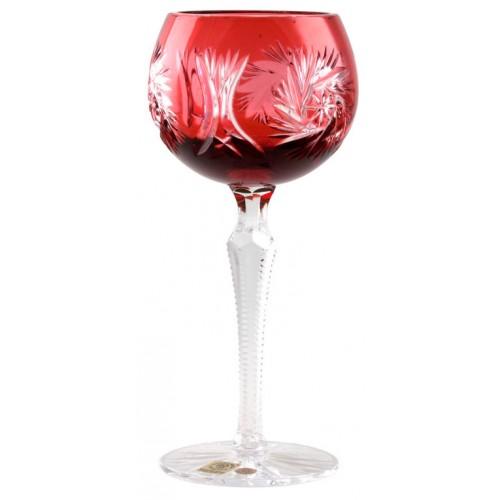 Pinwheel kristály borospohár, rubinvörös színű, űrmértéke 190 ml