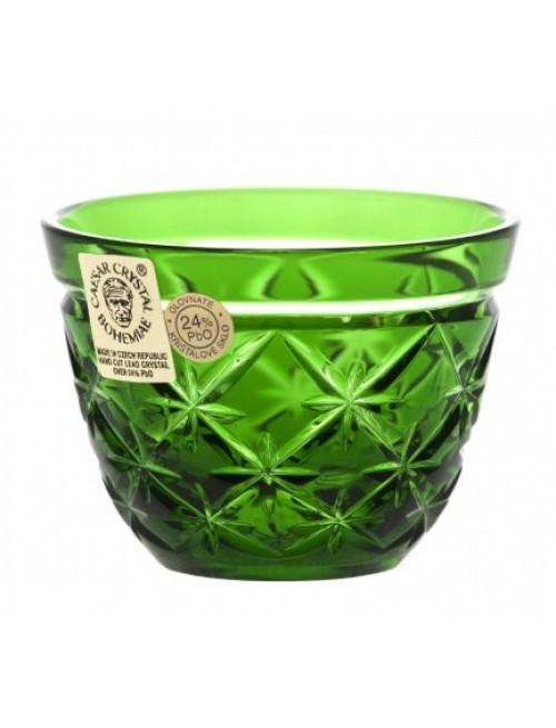 Charles kristálypohár, zöld színű, űrmértéke 65 ml
