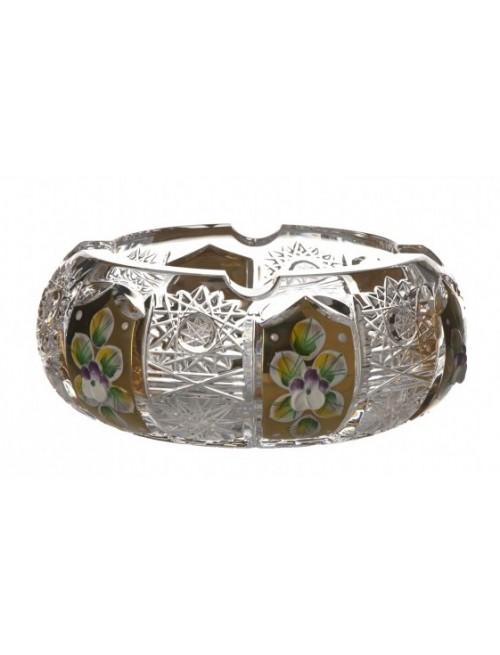 500PK Arany kristály hamutál, áttetsző kristály színű, átmérője 130 mm