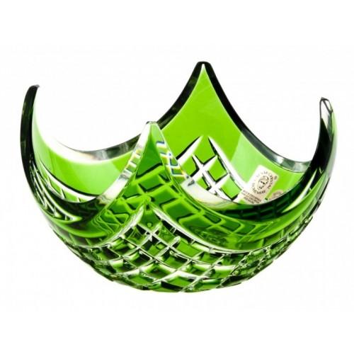 Quadrus kristálytálka, zöld színű, átmérője 140 mm