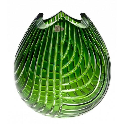 Linum kristályváza, zöld színű, magassága 280 mm
