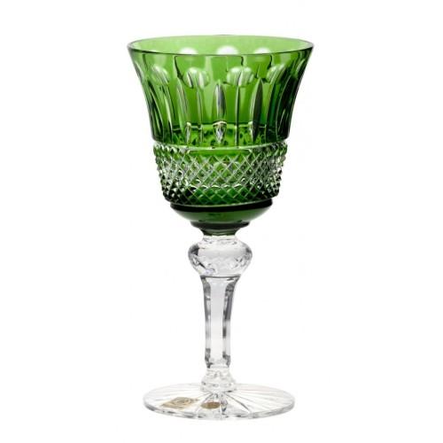 Tomy kristály borospohár, zöld színű, űrmértéke 180 ml