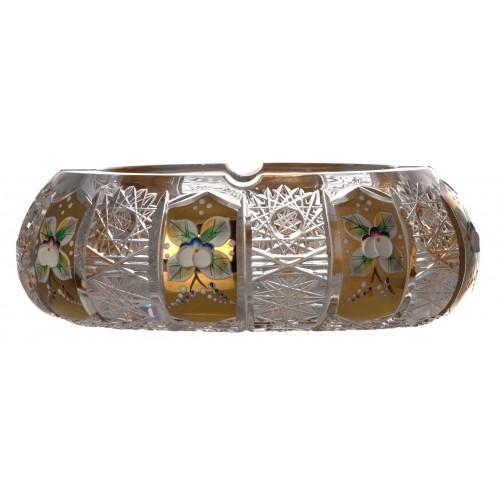 500K Arany kristály hamutál, áttetsző kristály színű, átmérője 180 mm
