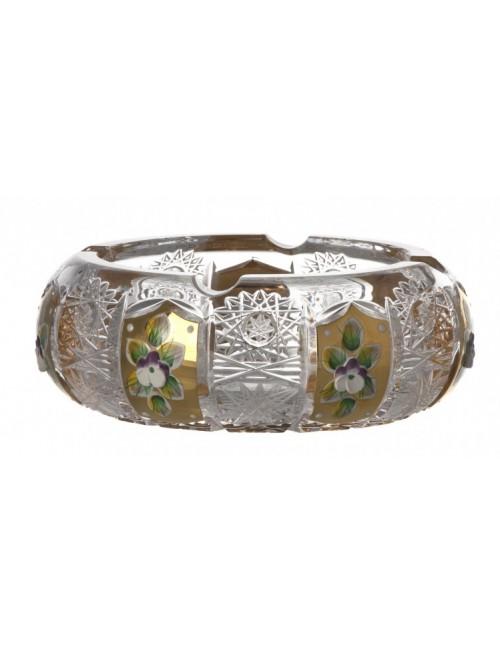 500K Arany kristály hamutál, áttetsző kristály színű, átmérője 155 mm